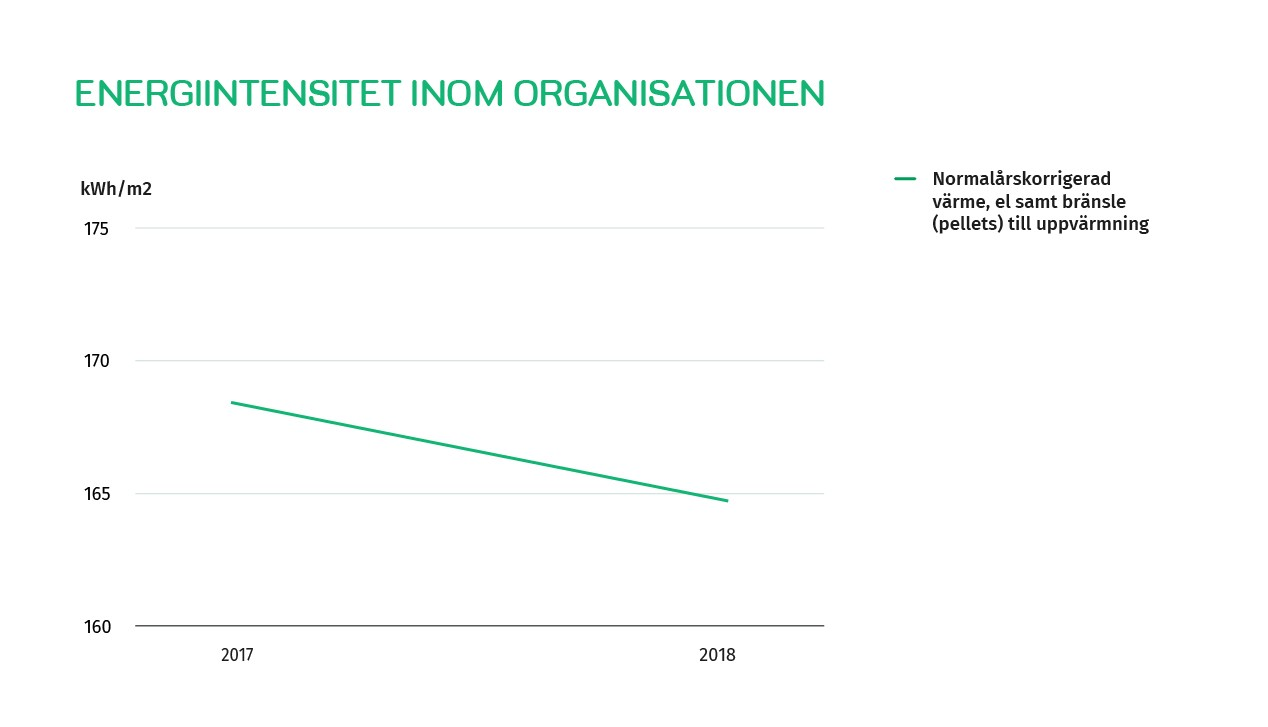 Energiintensitet inom organisationen